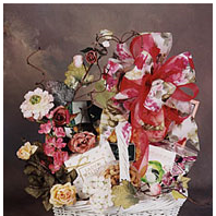 Gift Basket filled with gourmet cookies, popcorn and chocolate