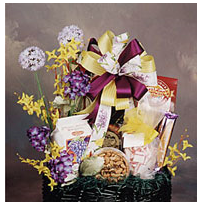 Grand Gourmet Gift Basket - nuts, pretzels and chocolate