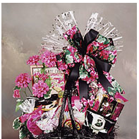 Gourmet snacks gift basket.
