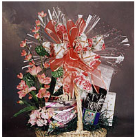 Assorted gourmet gift basket