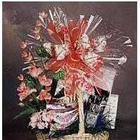 Assorted gourmet gift basket