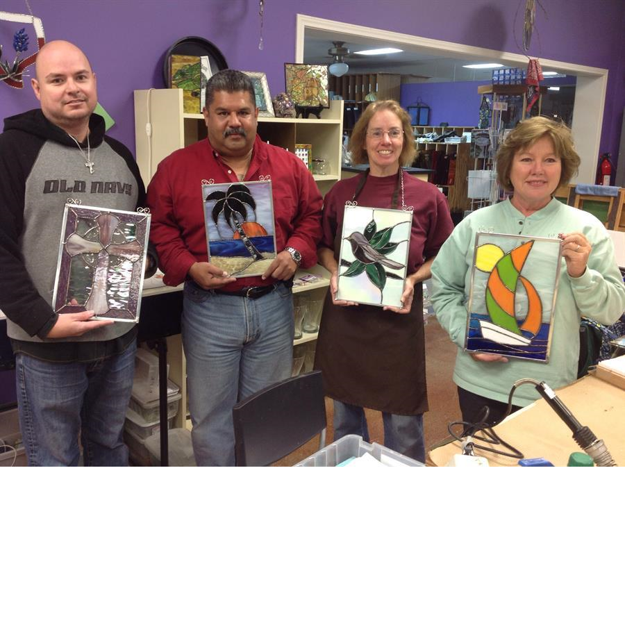 Students_Projects_From_Beginner_Stained_Glass_Class