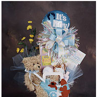It's A Boy tote bag with teddy bear