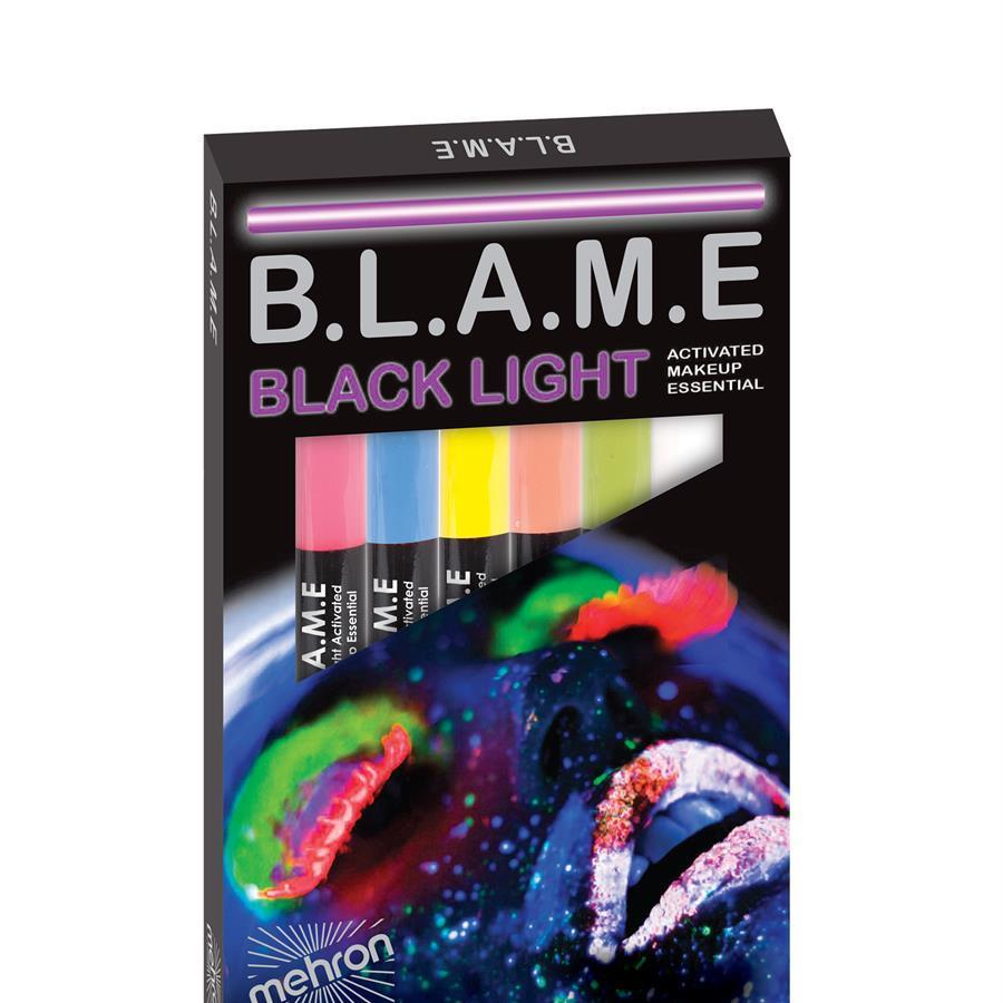 Blame black light face paints
