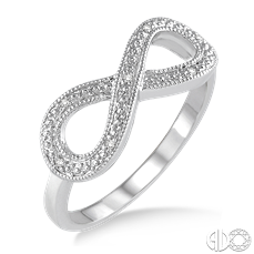 Sterling Silver and Diamond Infinity Ring