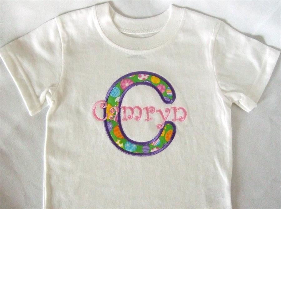 Custom tee with applique and name