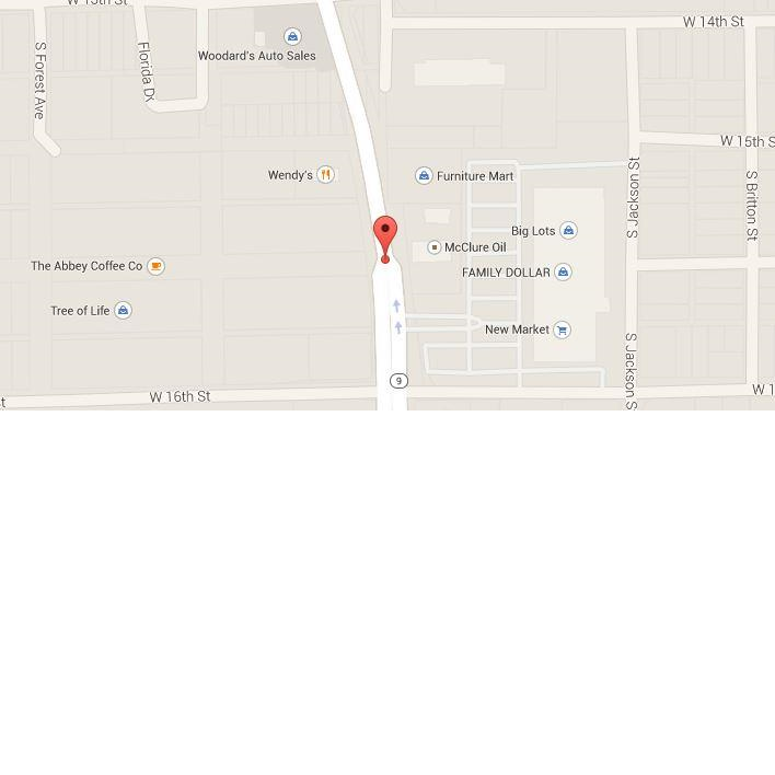 Map of 1412 S. Western Ave