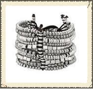 Uno De 50 Trivial Bracelet Silver Leather, found at Roberta Weissburg Leathers