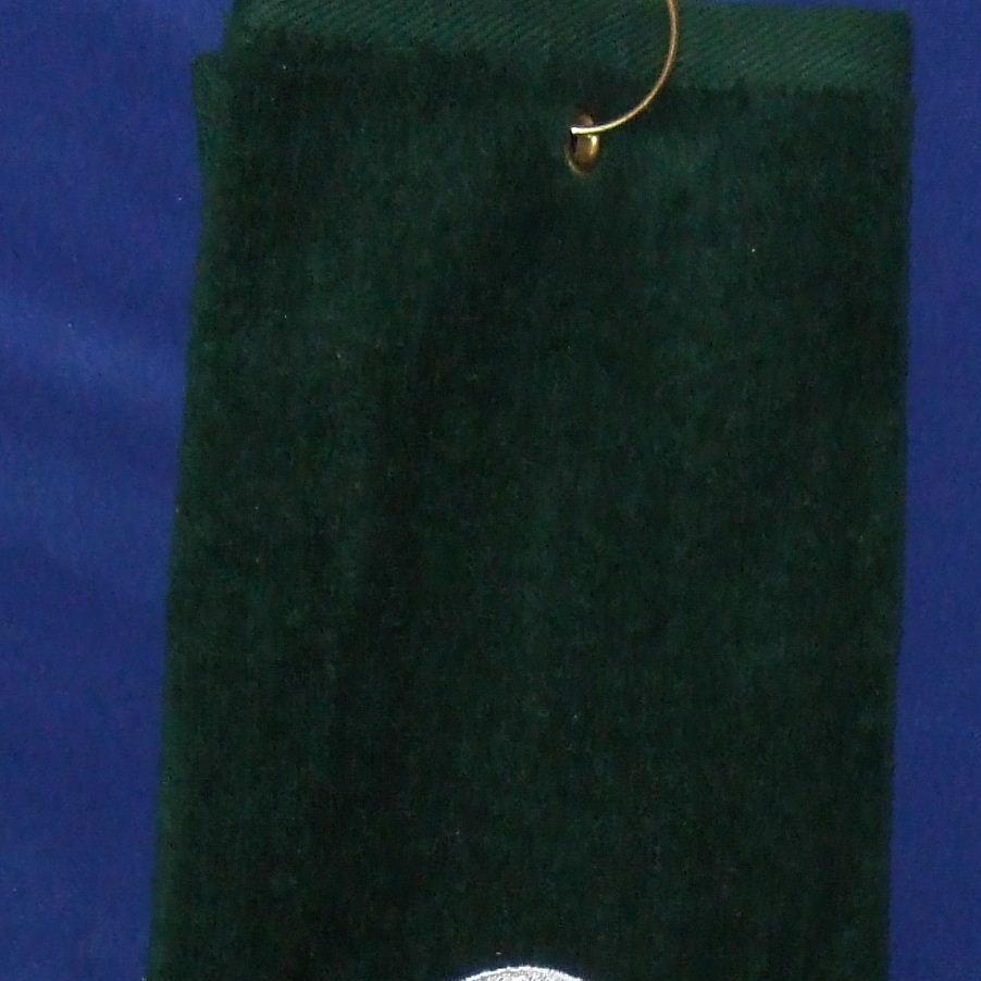 Monogrammed grommeted tri-fold golf towel