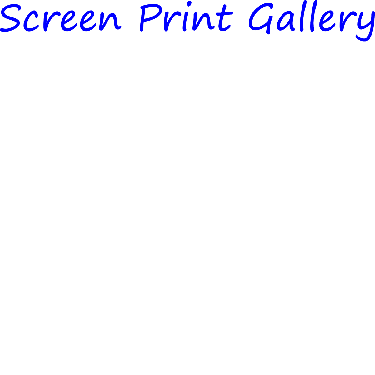 screen print gallery