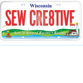 ROW BY ROW 2015 LICENSE PLATE