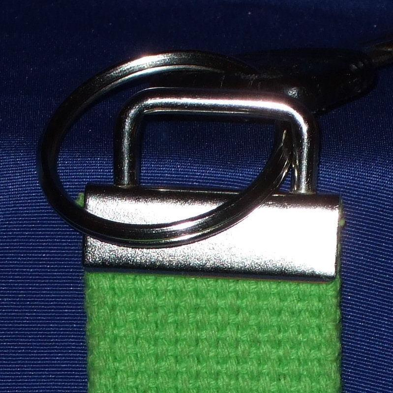 Personalized lime woven key chain