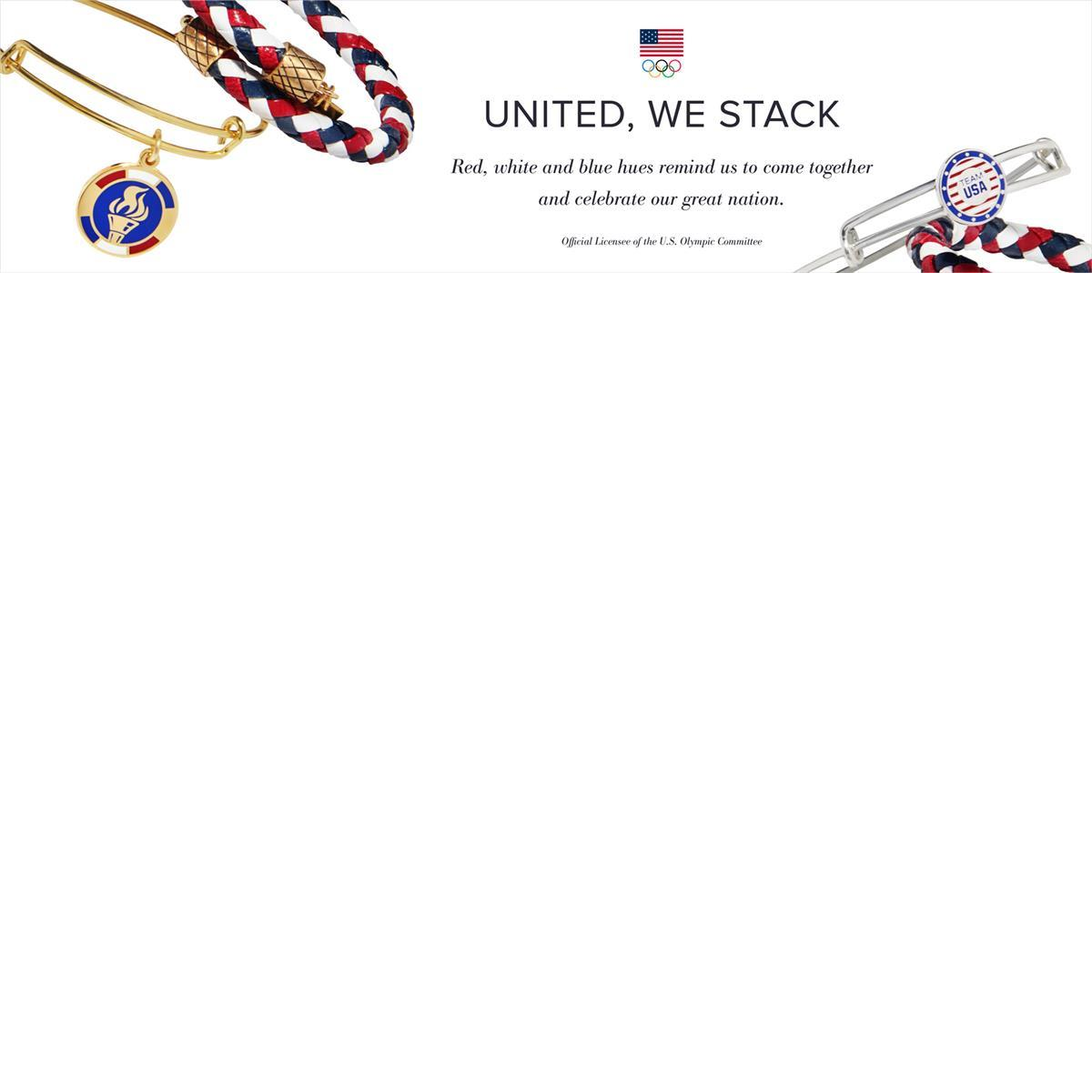 Alex an Ani red, white, and blue at gustonian gifts
