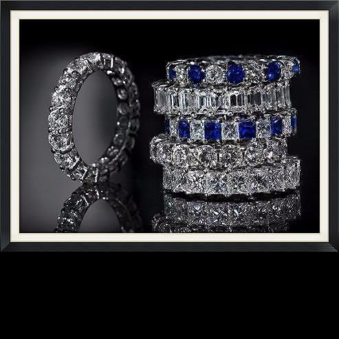 Diamond & Sapphire Eternity Rings