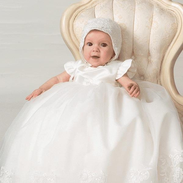 Sarah Loise girls christening gown