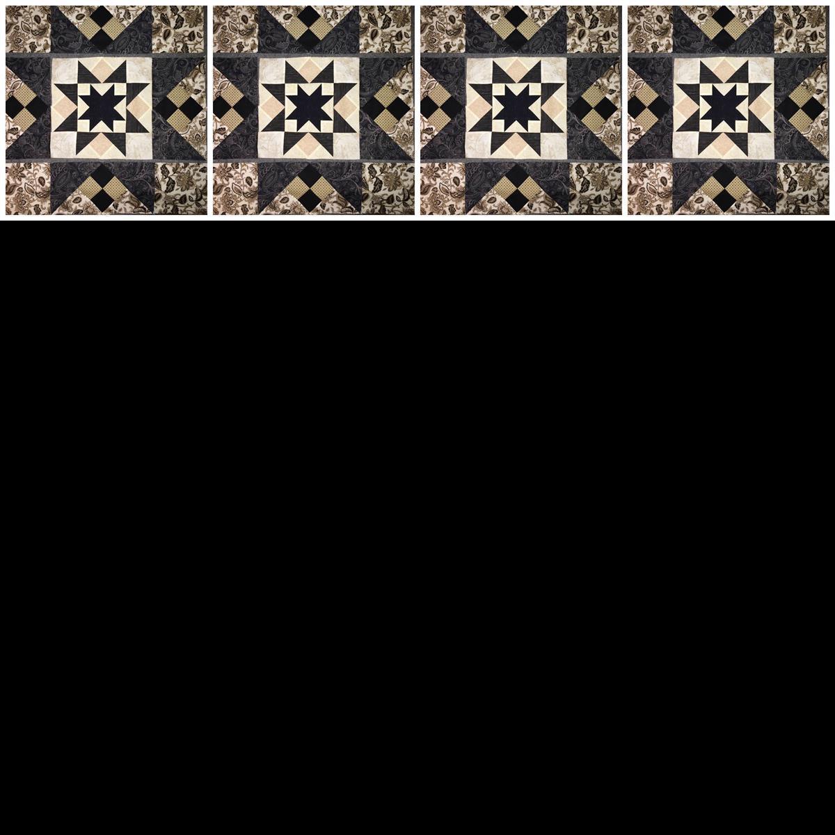 block of latte quilt banner