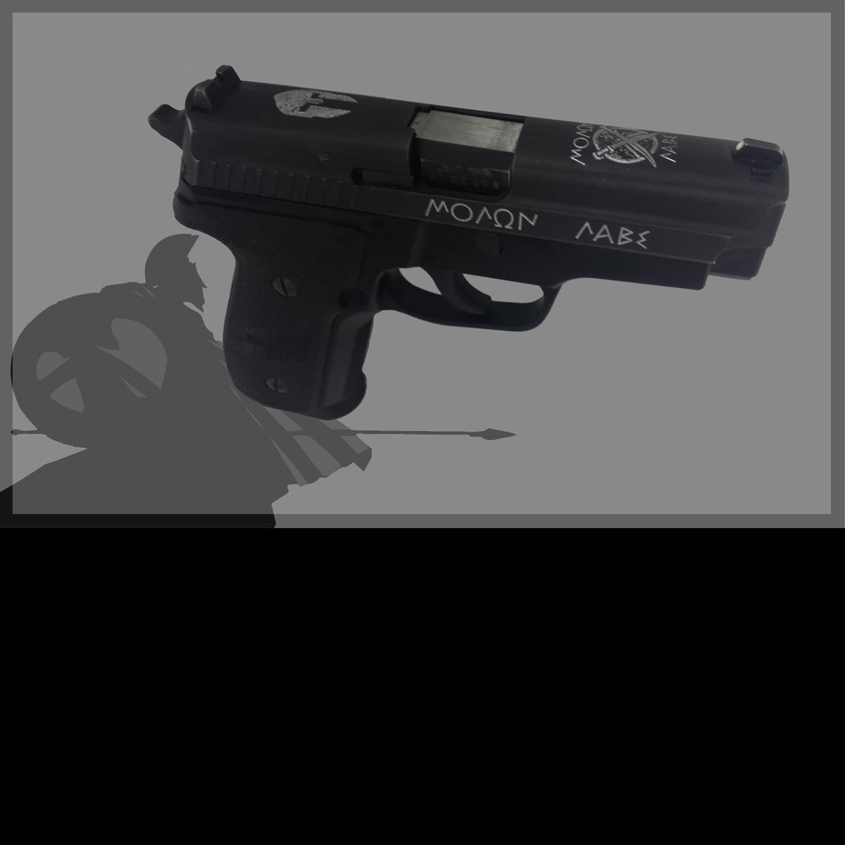 gun, firearms, engraving, sparta, come and take it