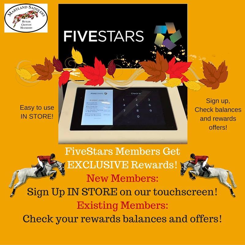 Maryland Saddlery 5 stars rewards