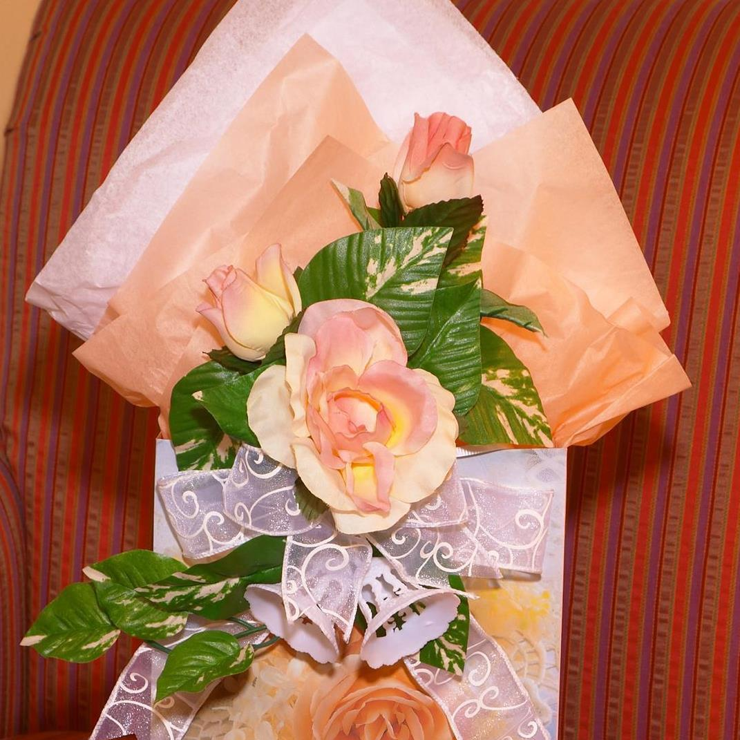 Wedding gift bag for hotel guests.