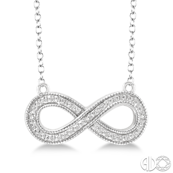 Sterling Silver and Diamond Infinity Pendant