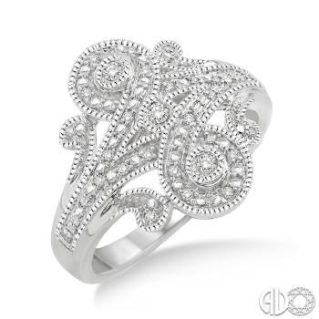 Sterling Silver and Diamond Filigree Dinner Ring