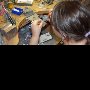 Jeweler at Laserwelder, Gemstone Creations