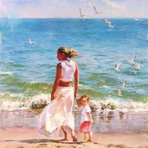 Ocean For Two by Michael & Inessa Garmash, Oil on canvas, limited edition