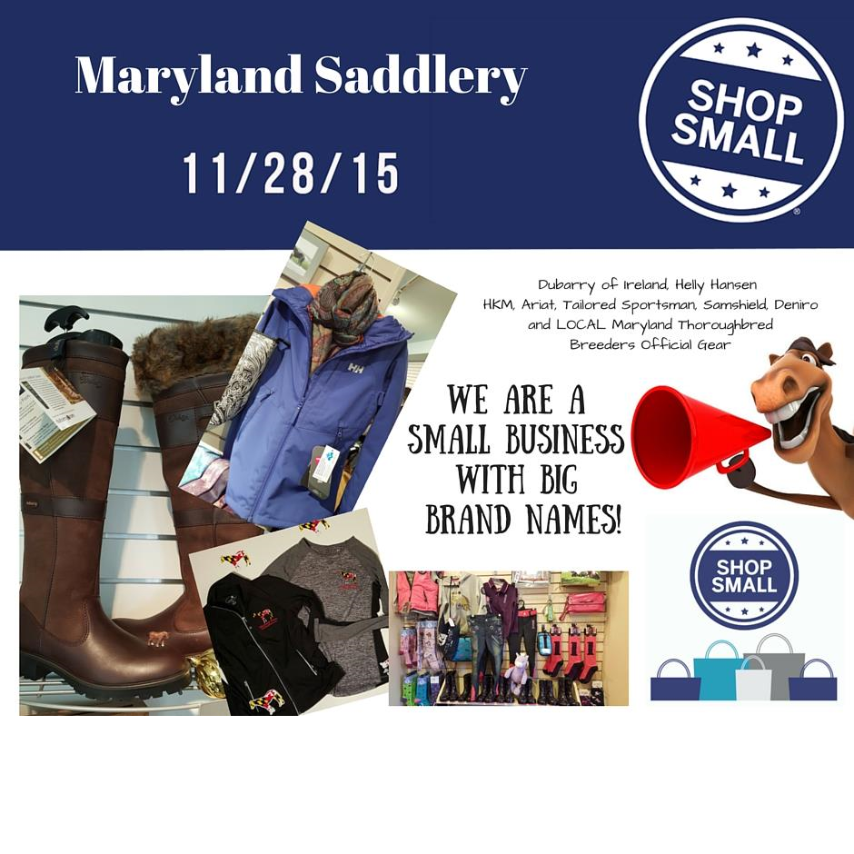 small business saturday, maryland saddlery, shop small