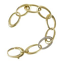 Herco Gold and Diamond Link Bracelet
