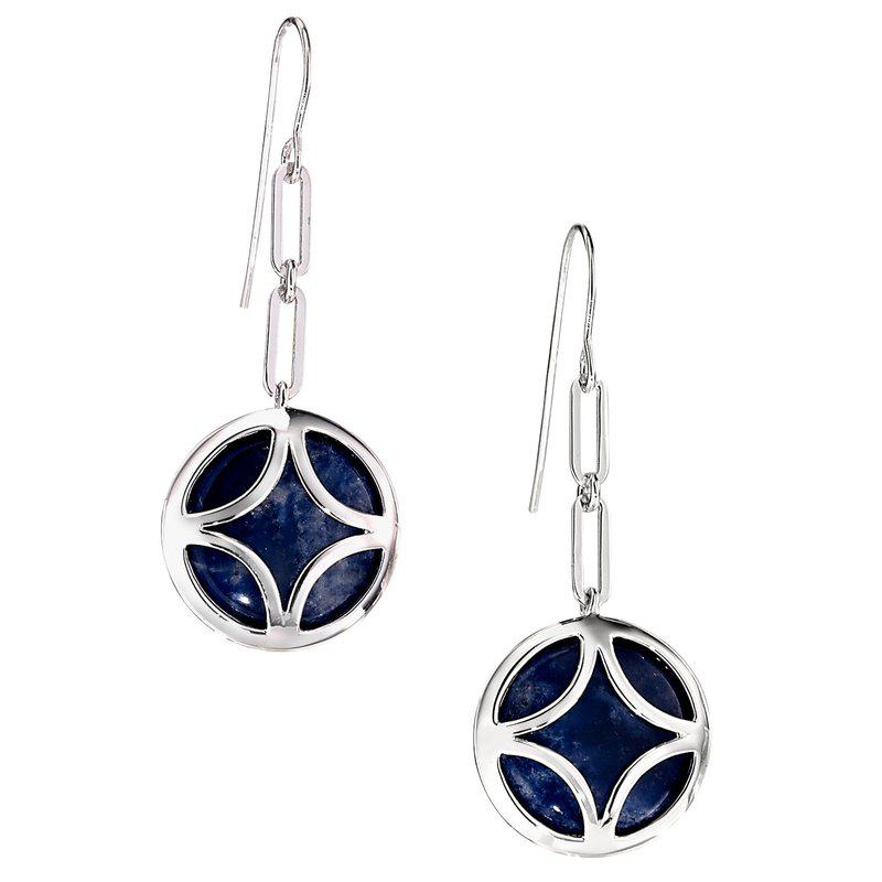 ELLE sterling silver earrings sodalite