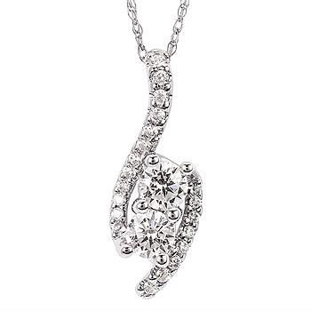 Diamond Two Stone Pendant