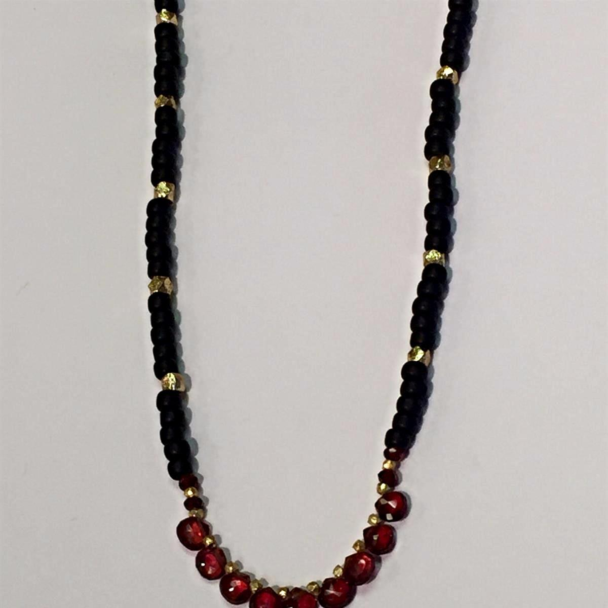 Garnet Onyx Necklace