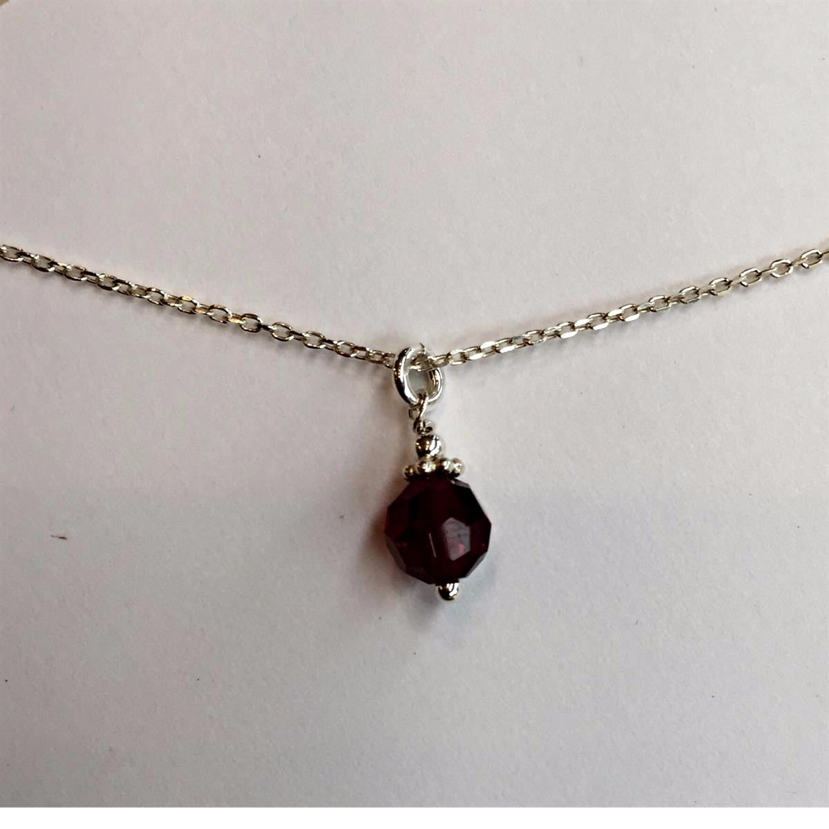 Single Garnet Necklace
