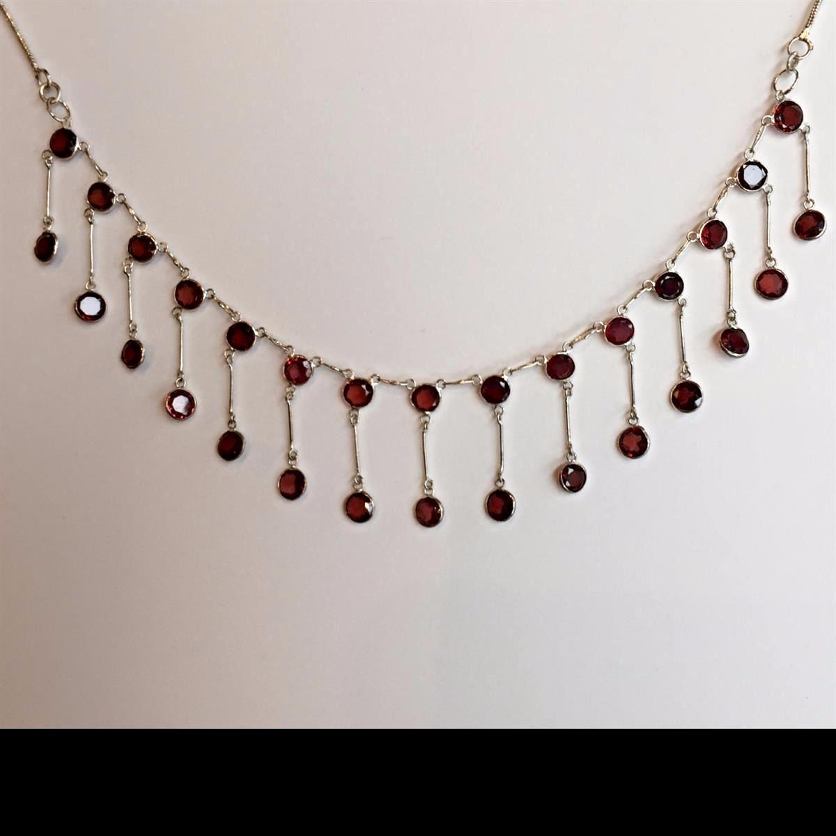 Garnet Drop Necklace