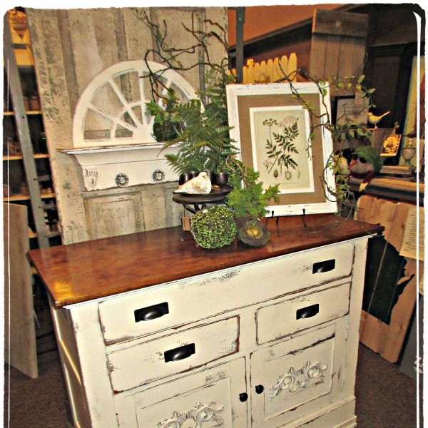 Shabby Chic, Painted Sideboard Buffet...