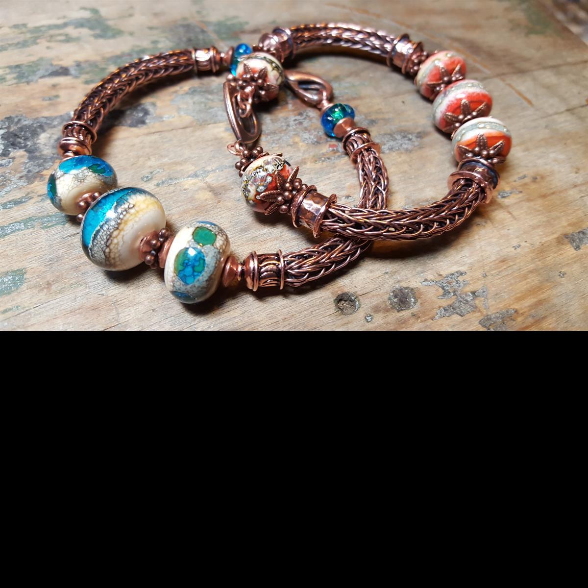 Double Viking Knit Bracelet