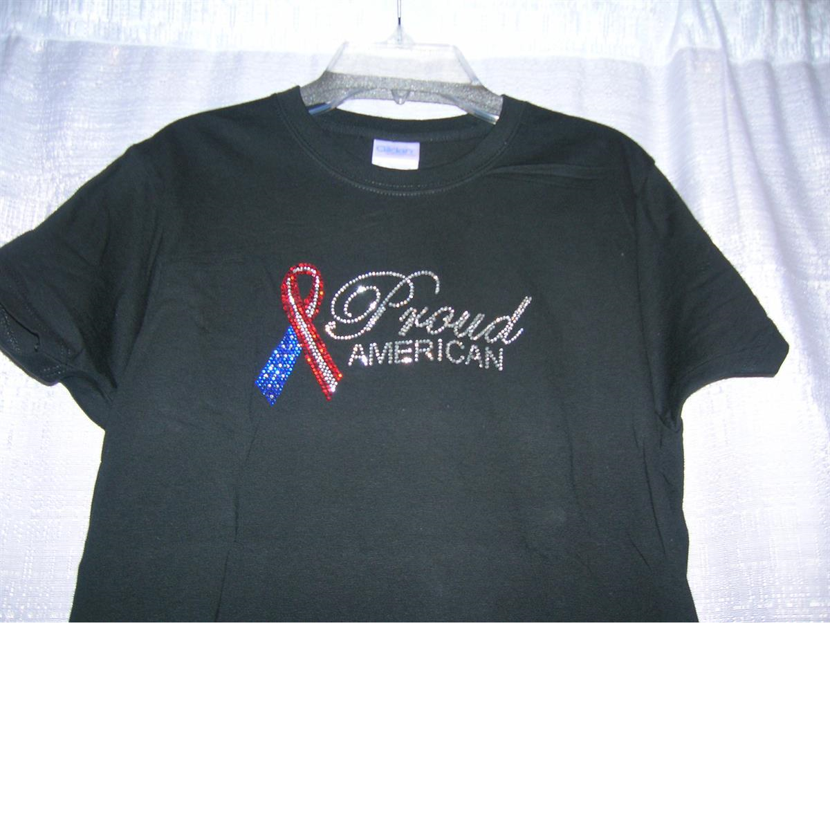 Proud American     Washable      Crystal                              T Shirt