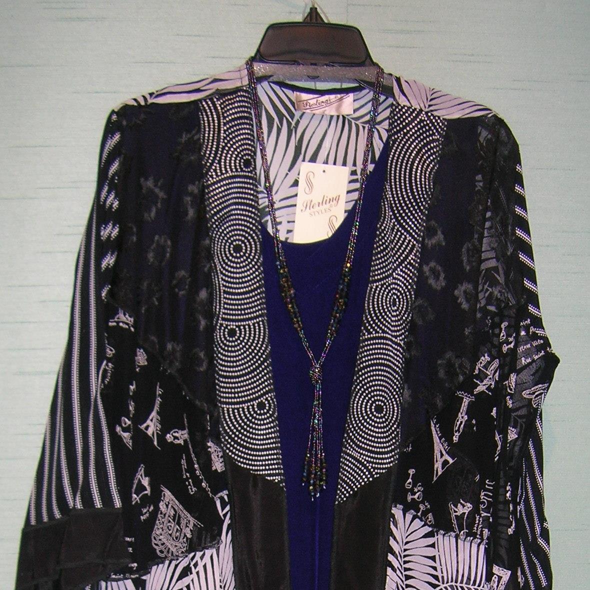 Caftan Jacket B/W