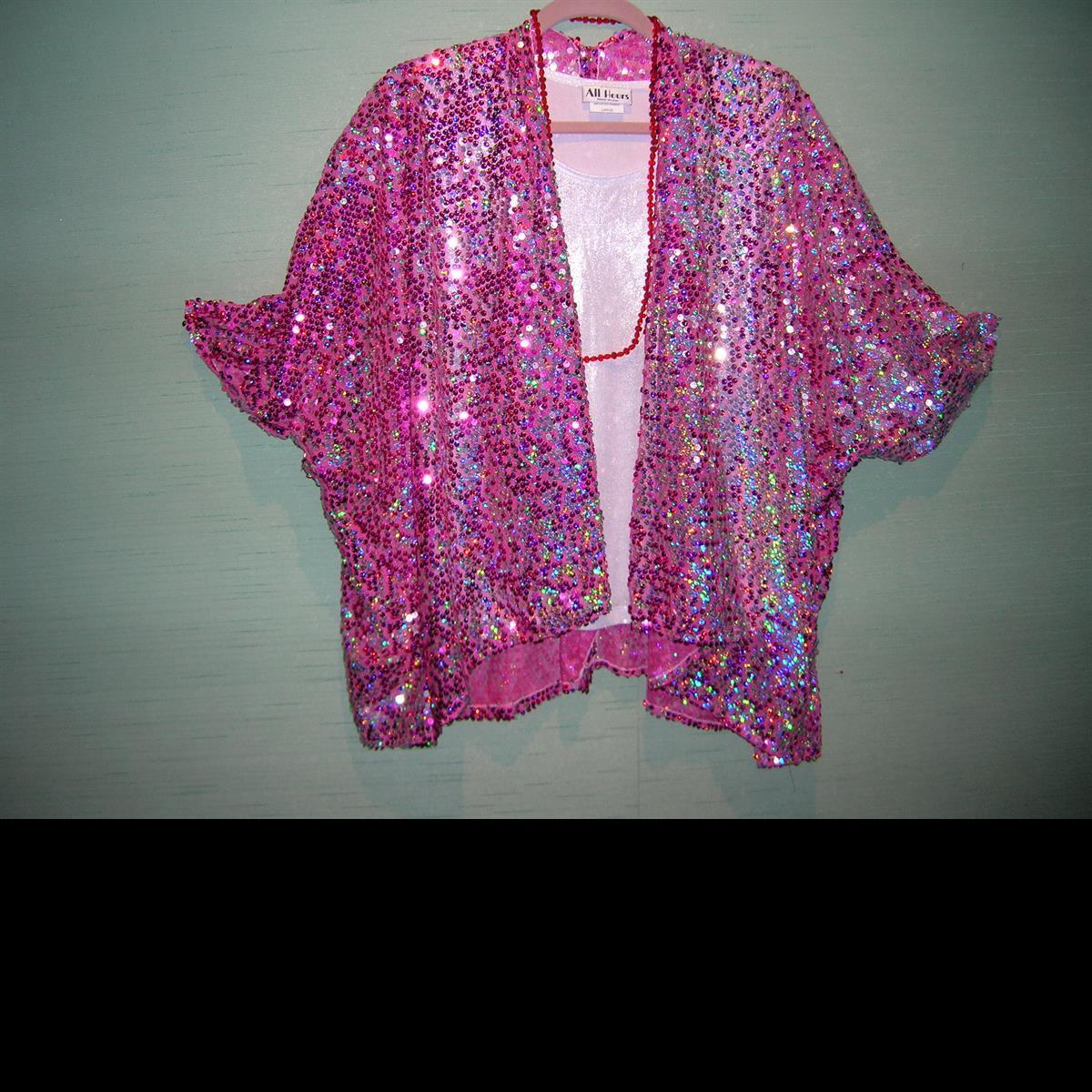 Fuchsia Sequin Jacket