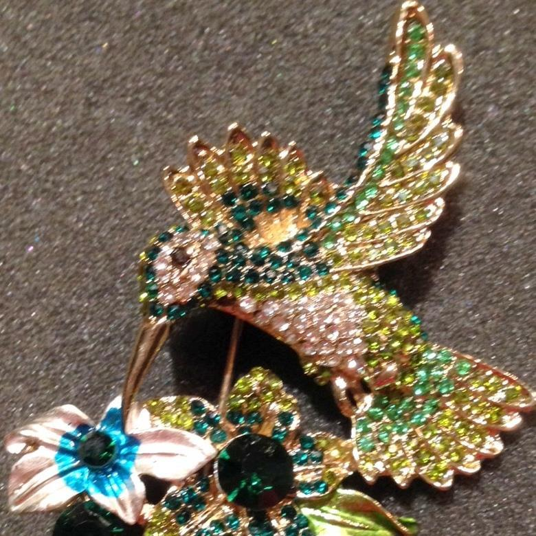 Blue/Green Hummingbird Pin