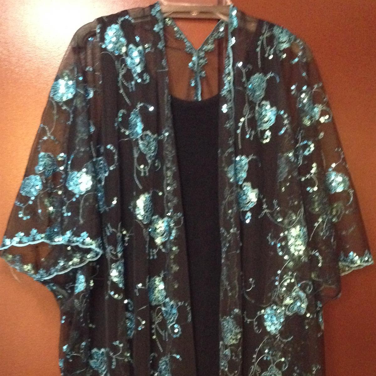 Sequin Shawl Jacket