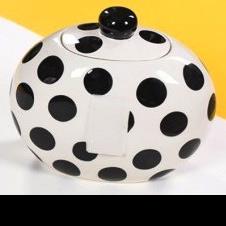 Black Dot Happy Everything Cookie Jar