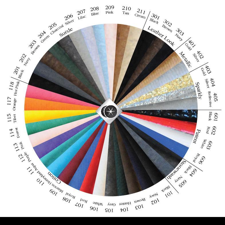 Charles Owen Piping Colors