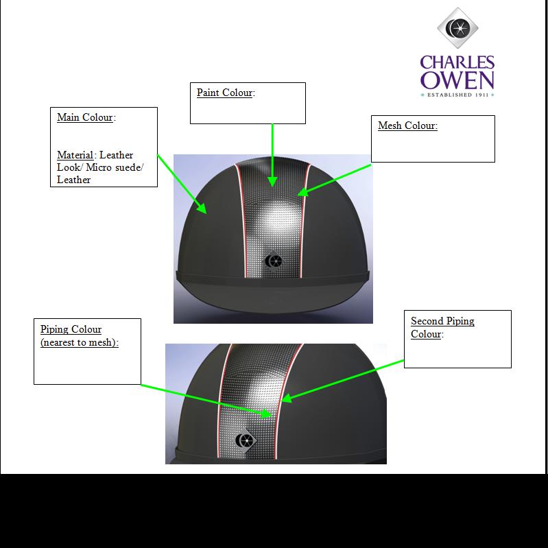 custom charles owen helmet