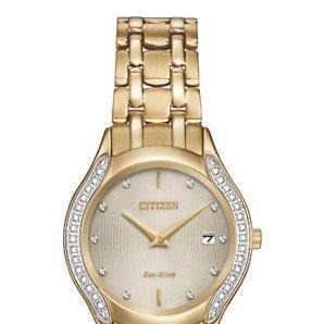 Ladie's_diamond_citizen_watch_gold_tone