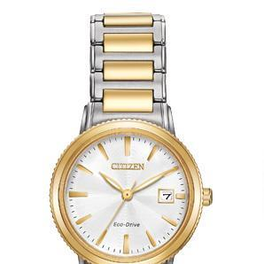 Silhouette_citizen_watch_two_tone_white_face