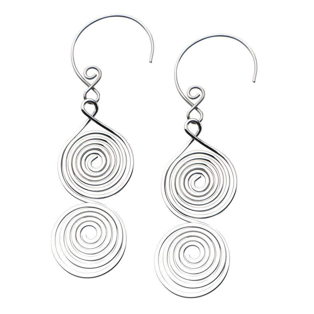 Inox_stainless_steel_spiral_dangle_earrings