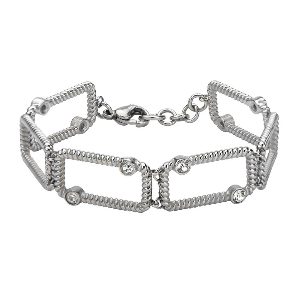 Inox_Stainless_steel_crystal_bracelet