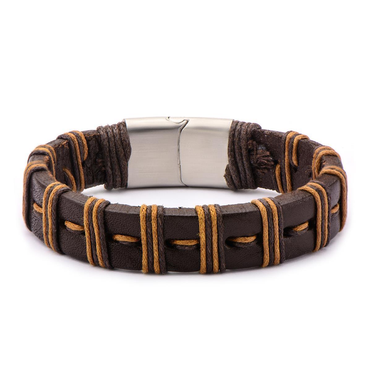 inox_leather_brown_mens_bracelt