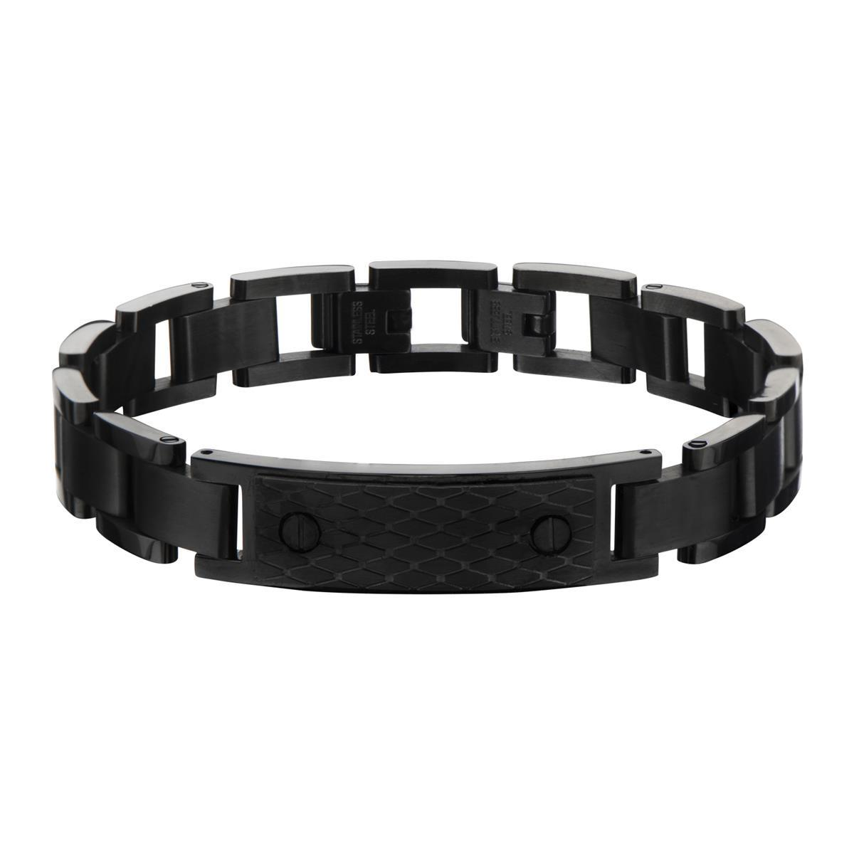 inox_mens_stainless_steel_black_bracelet